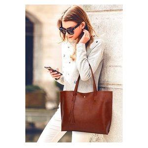 Handbags - Brown Women's Soft Leather Tote Shoulder Bag